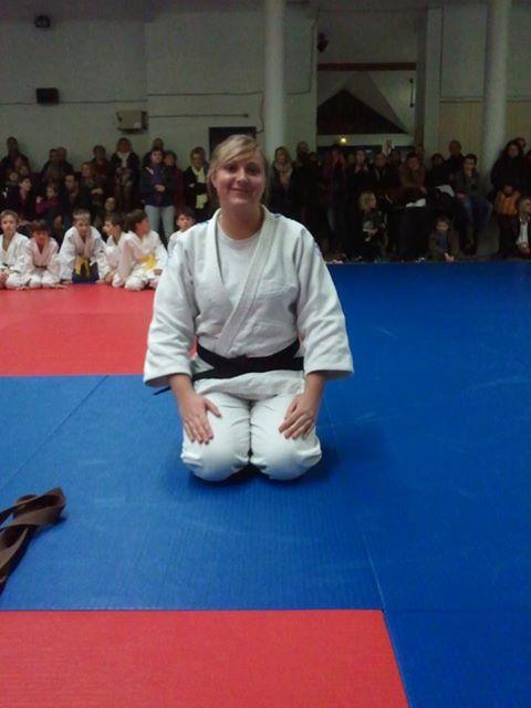 Marion Pajewsky remise de ceinture noire le 21/12/2012
