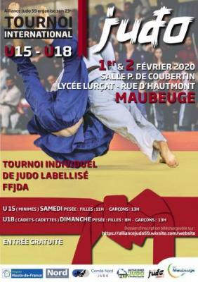 Tournoi international minimes cadet fev 2020